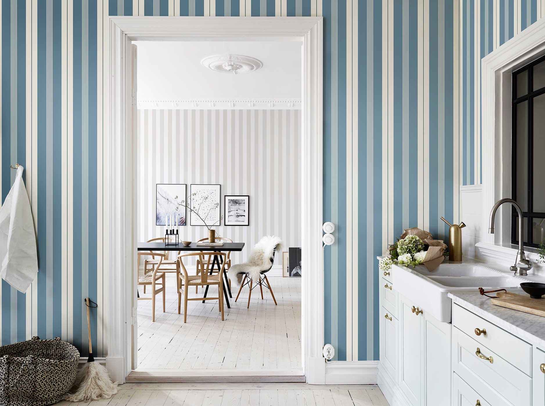 10 striped wallpaper design ideas bright bazaar by will taylor
