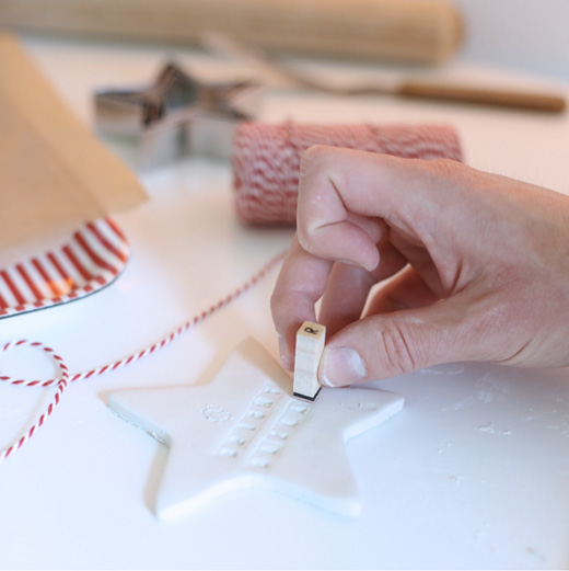 How to Make Stylish Clay Christmas Ornaments - Bright ...