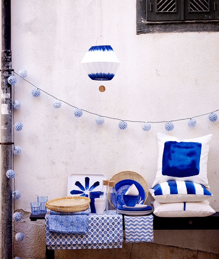 Ikea Sommar Collection Blue White Home Accessories