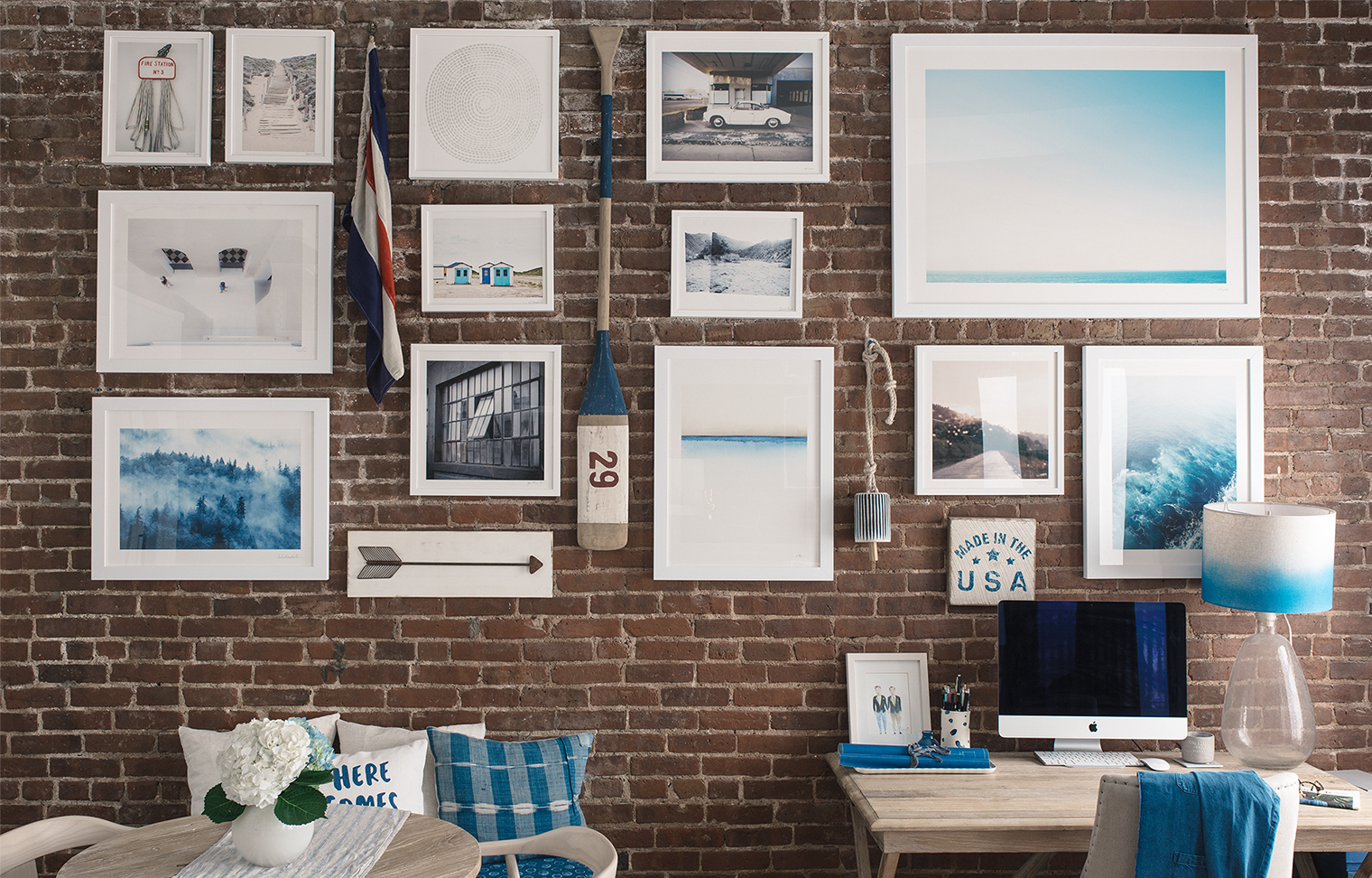 How To Hang A Gallery Wall On Exposed Brick Walls Bright