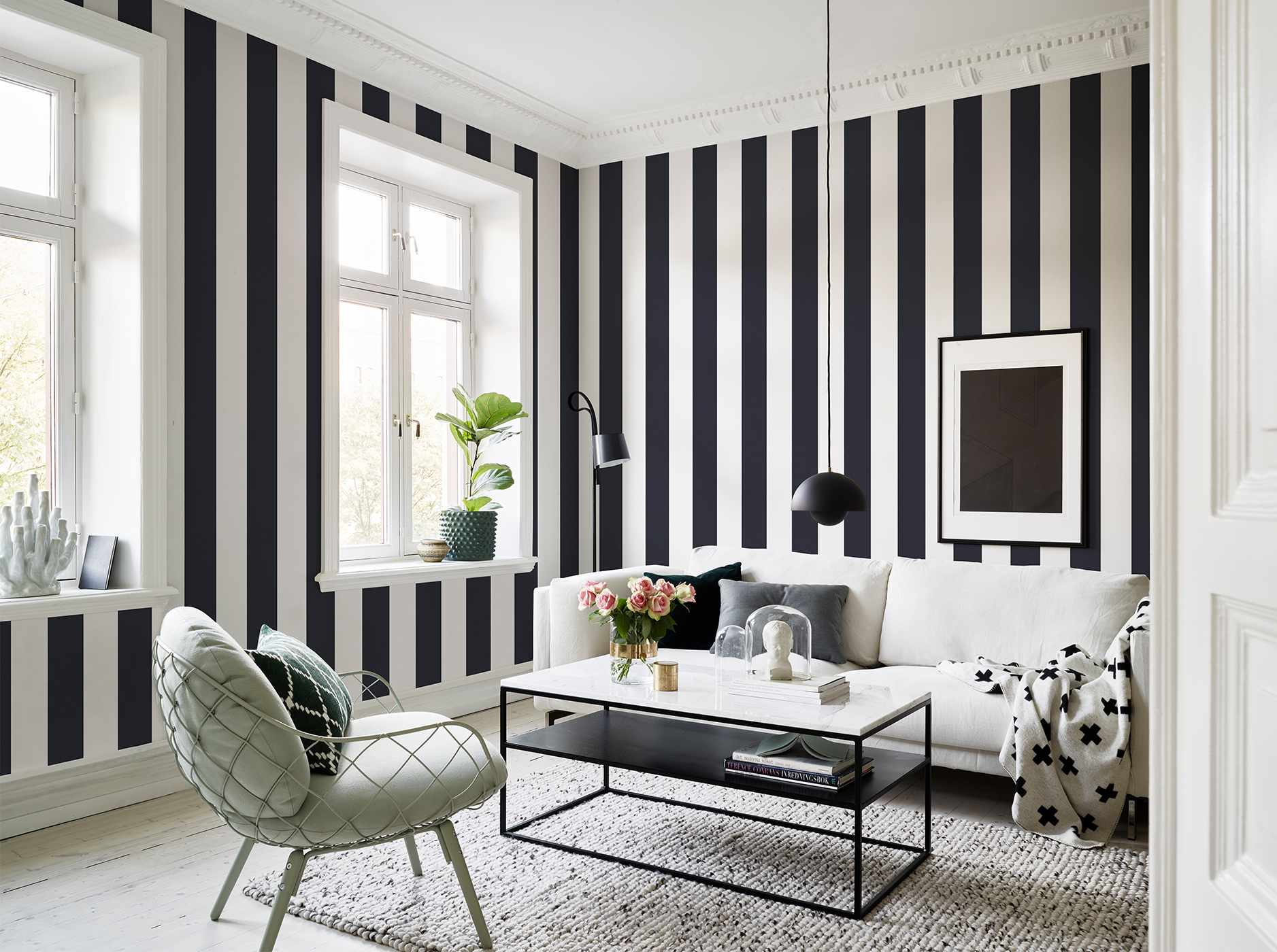 Striped wallpaper design ideas