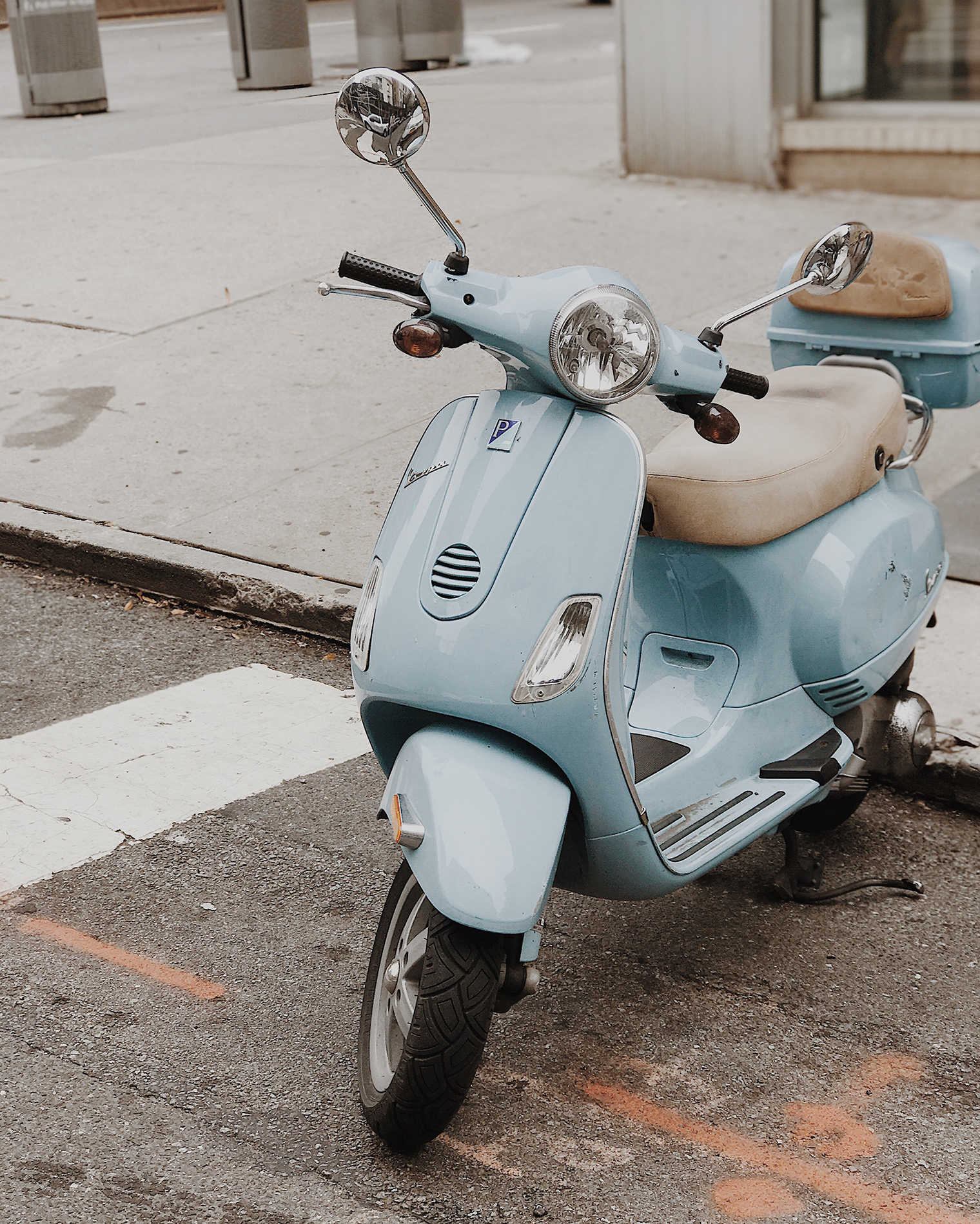 pale blue vespa