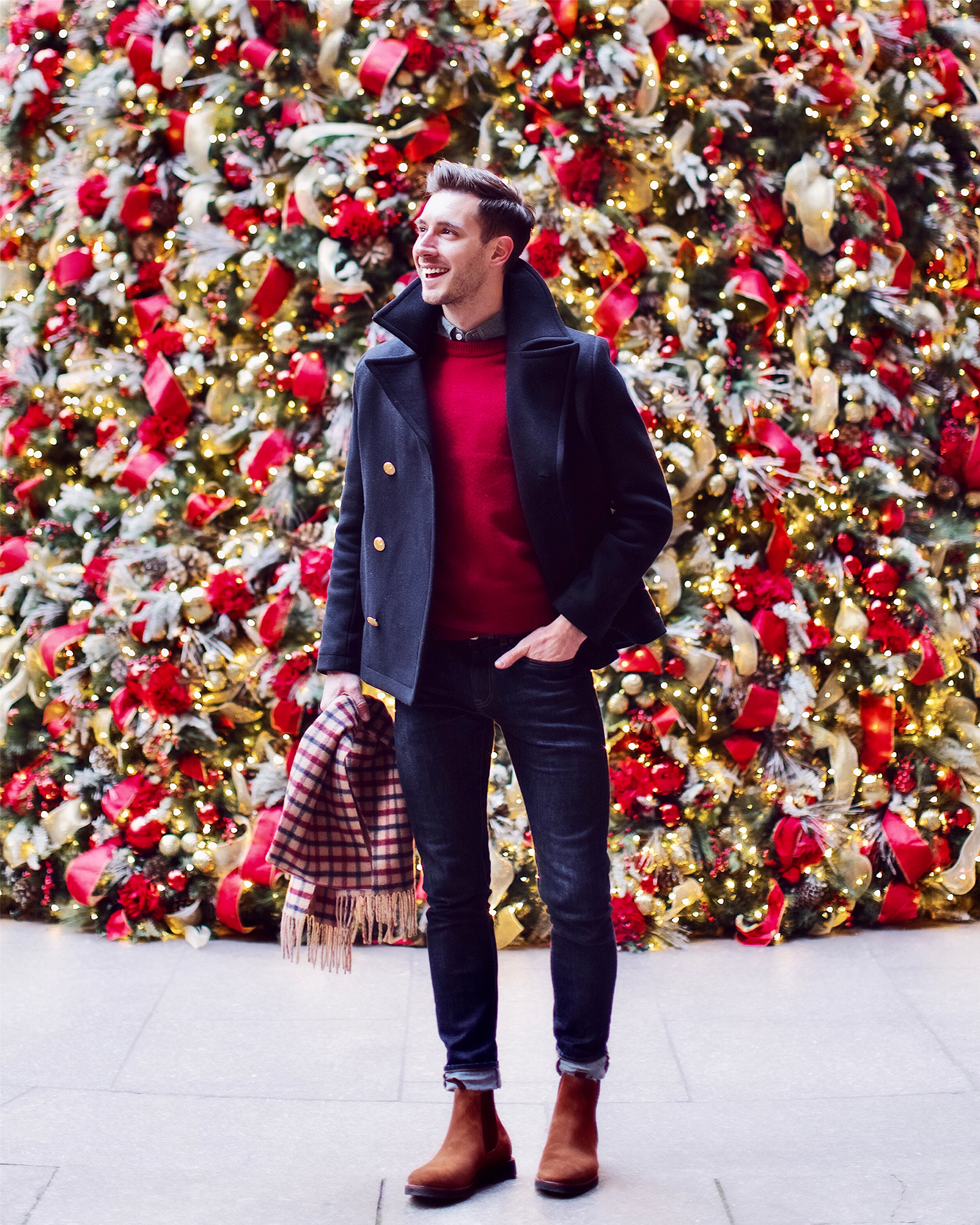 what to wear to a casual holiday party  bright bazaar