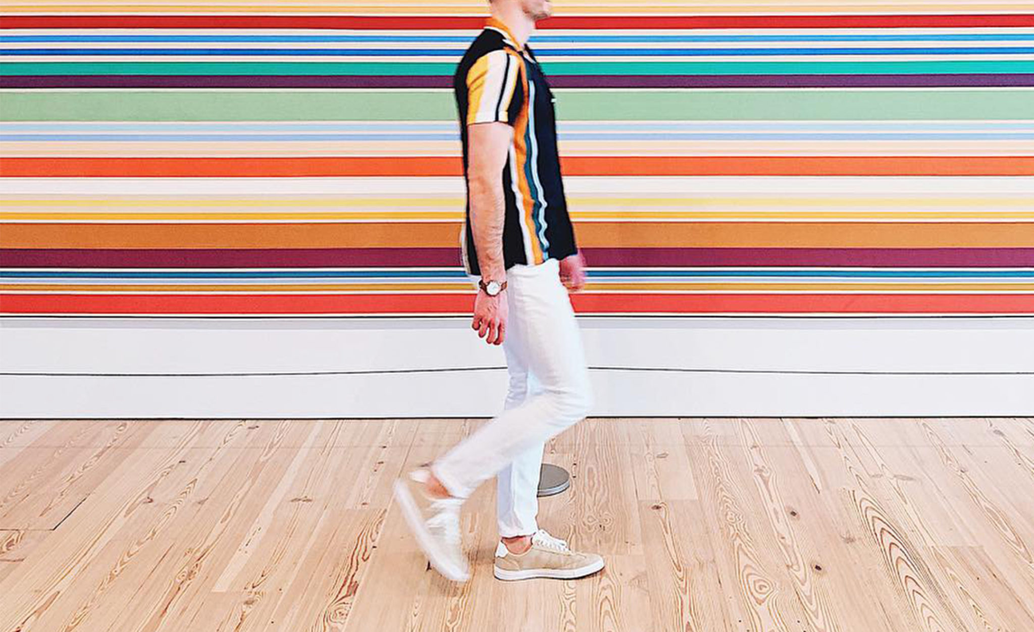 vertical striped outfits